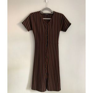NWT Roolee Striped Button Front Dress Sz Small